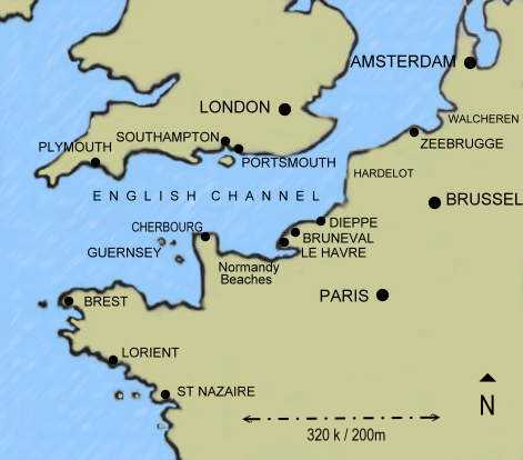 Operation jubilee the disaster at dieppe overview map dieppe and the english channel gumiabroncs Gallery