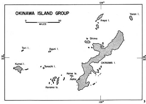 Battle Of Okinawa: The Okinawa Island Group.
