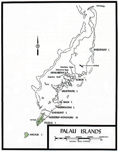 帕劳群岛地图