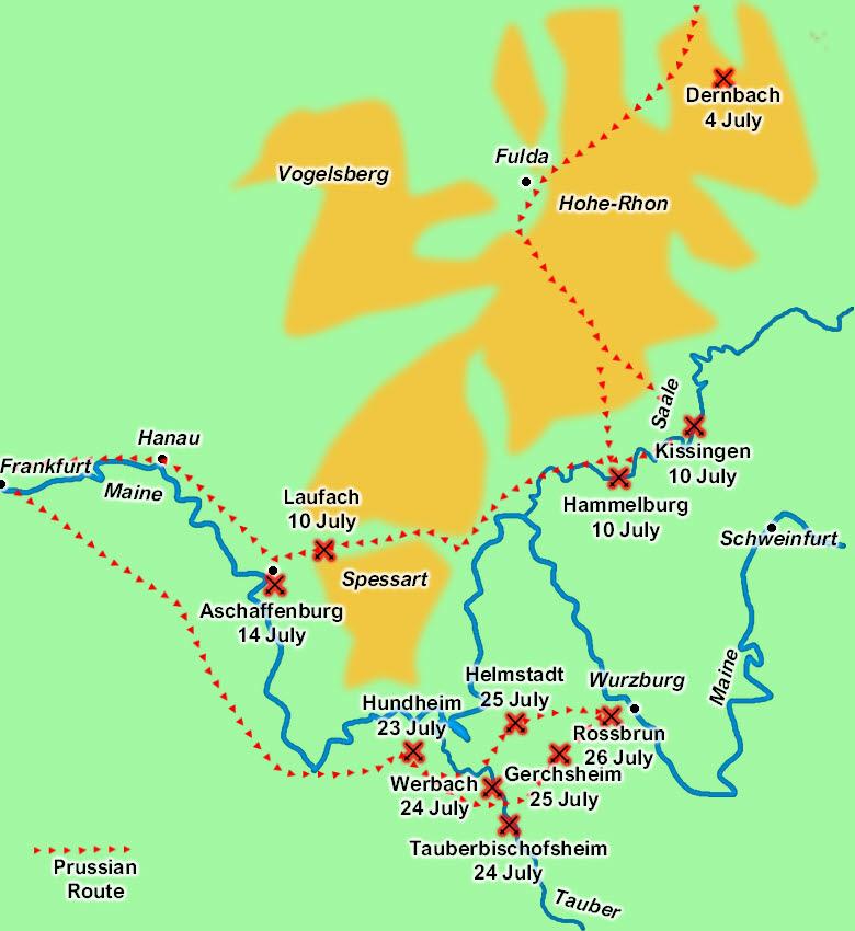 Battles Of The Austro Prussian War 1866 German Front