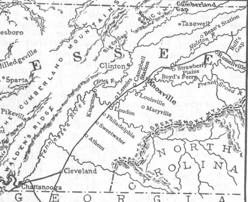 American Civil War East Tennessee in 1863