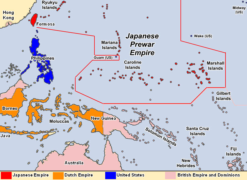 Pacific Theatre Before Japanese Conquests