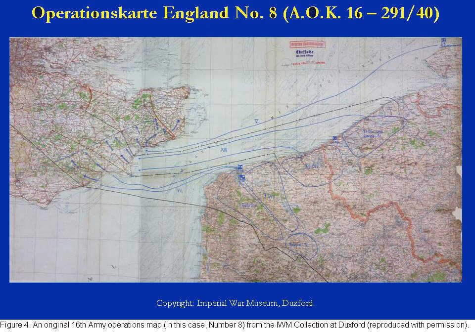 Operation Sealion Figure 4 German 16th Army Map No 8