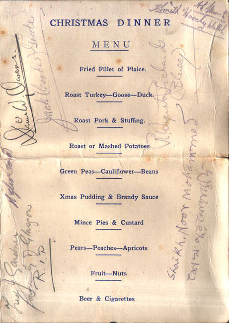 Traditional Christmas Dinner Menu.Christmas Menu For No 215 Squadron 1944 Page 2
