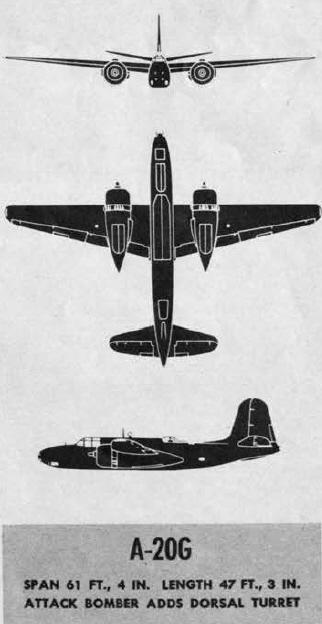 Plans of the Douglas A-20G Havoc
