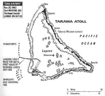 Map of Tarawa Atoll