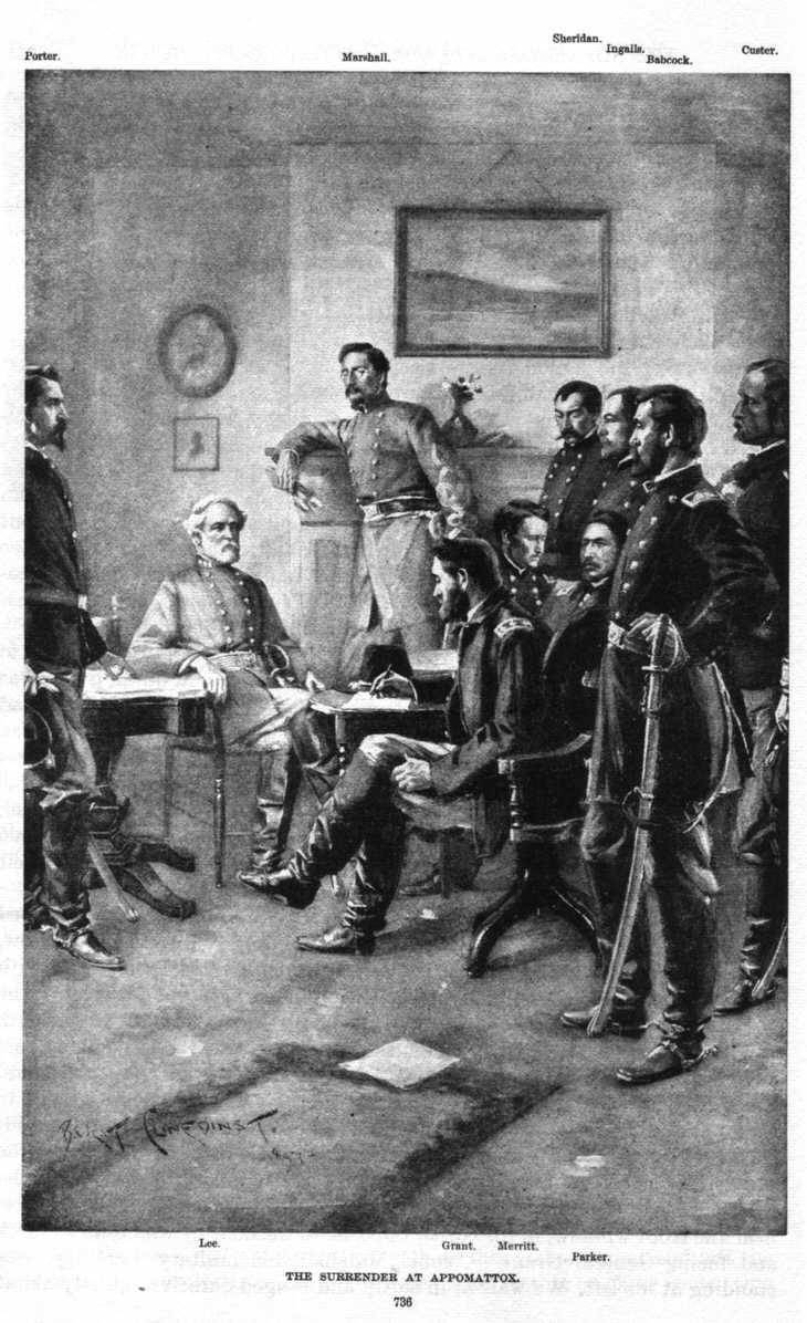 this undated postcard commemorates the surrender at appomattox on ...