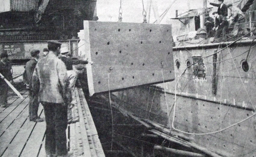 15 Ton Block Of Armour Plate For Battleship