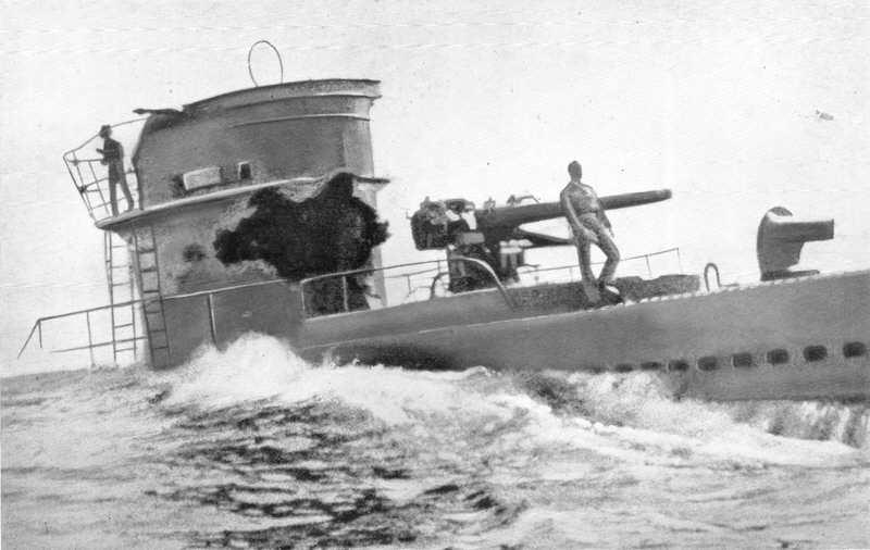 Damage To Italian Submarine Cobalto