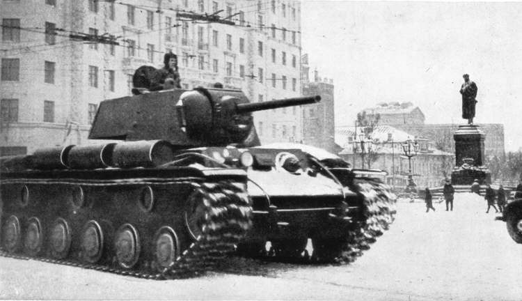 KV-1 Model 1941 Heavy Tank in Moscow