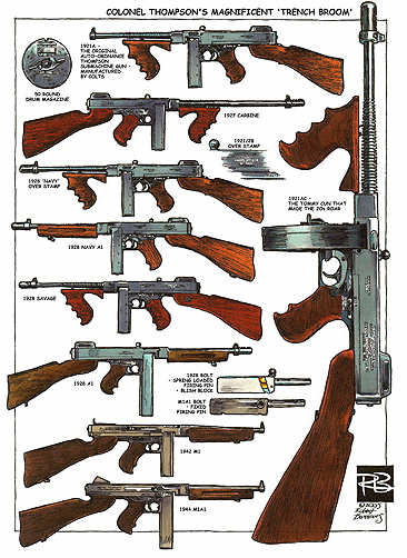 thompson machine gun coloring pages - photo#30