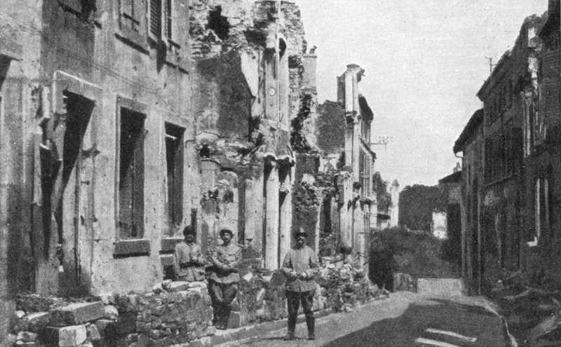 Ruined Street At Verdun 1916