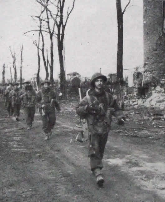 French-Canadian troops in Emmerich, 1945