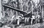 US 155mm Gun M1 (Long Tom) on Rendova Island