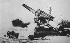 240mm Howitzer firing, Fifth Army, Italy, 1944