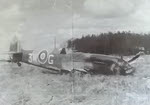 Crashed Spitfire of No.322 Squadron