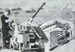 40mm Bofors AA gun off the Normandy Beaches