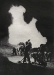 Canadians firing 4.2in Mortars, Italy, 1944