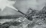 5.5in Gun bombards Germans near Caen