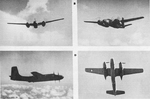 Four pictures of the Douglas A-26B Invader
