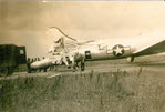 B-17G damaged in collision while taxiing