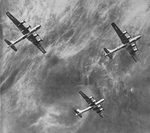 Formation of Boeing B-29 Superfortresses from Below