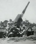 QF 3.7in AA Gun on the Ledo Road