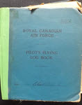 Cover of RCAF Pilot's Flying Log Book