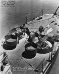 1.1in AA guns on fantail of USS Astoria (CA-34)