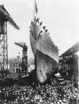 USS Chicago (CA-29) being launched, 10 April 1930