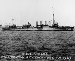 USS Childs (DD-241) during 1927 Presidential Review