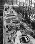 USS Cleveland (CL-55) under construction, 1 October 1941