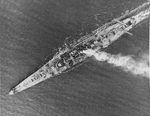 USS Denver (CL-58) from above
