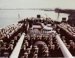Commissioning Ceremony, USS Flint (CL-97), 31 August 1944
