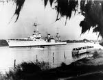 USS Houston (CA-30) at Houston, late 1930s