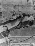 USS Jarvis (DD-38) with damaged bow