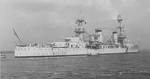 Side view of USS Pensacola (CA-24)