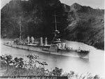 USS Richmond (CL-9) in Panama Canal, 1925
