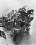 USS Shaw (DD-68) after collision with the Aquitania