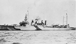 USS Stevens (DD-86) in dazzle camouflage