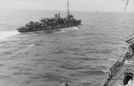 USS Stringham (APD-6) at sea in 1944, probably in Marianas