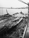 USS Tallahassee (CL-61) under construction, 1 July 1941