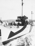 USS Woolsey (DD-77) being launched, 17 September 1918