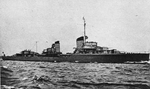 1934 Type Destroyer Z1 Leberecht Maass from right