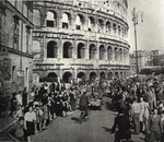 Allied Troops pass the Colosseum, June 1944