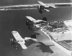 Boeing F4B-1 over Pensacola, 1930s