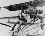Lt Harold T Bartlett piloting Curtiss Model E, 1911