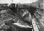 Damaged Dry Dock at Naples, 1944