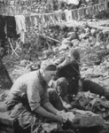 Darning Socks, Fifth Army Front, Italy 1944
