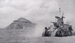 M3 Stuart light tank passes El Himeimat, 1942